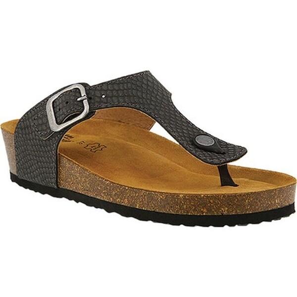 98584c0aef7d Shop Spring Step Women s Estelle Thong Sandal Black Leather - Free ...