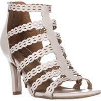 Rialto Roma Strappy Zip Heel Sandals, Linen