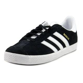 Adidas Gazelle Youth Round Toe Suede Black Running Shoe