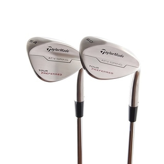 New TaylorMade Tour Preferred Wedges 54* & 60* (ATV Grind) RH w/ Steel Shaft