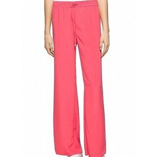 Calvin Klein NEW Pink Women's Size Medium M Wide Leg Smocked Pants