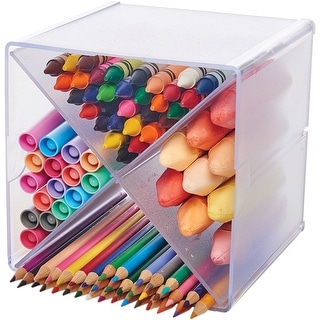 """Stackable X-Divided Storage Organizer-6""""X6""""X6"""" Clear"""