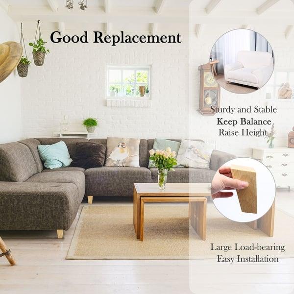 4 Inch Wood Furniture Legs Tapered Sofa