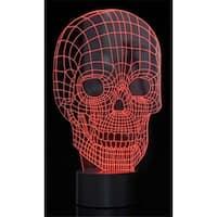 t  Optical Illusion 3D Skull Light