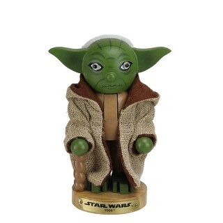 "7.5"" Star Wars Master Yoda Wooden Christmas Nutcracker Figure"