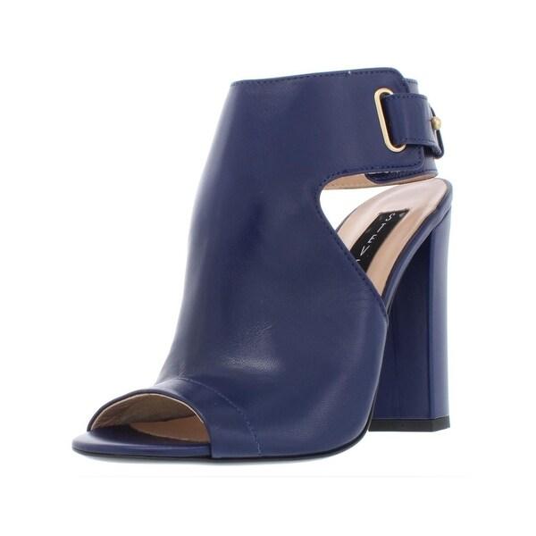 d145f7f5c Shop Steven By Steve Madden Womens Zadie Ankle Boots Leather Block Heel - 7  Medium (B