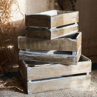 RusticReach Rectangular Solid Wood Crates