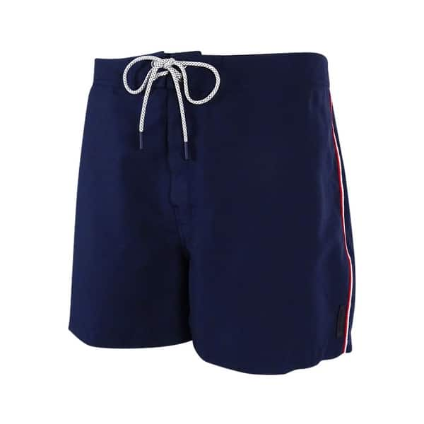 39ea57f19c Shop Michael Kors Men's Side Stripe Board Shorts (Midnight, XL) - Midnight  - XL - Free Shipping On Orders Over $45 - Overstock - 19268210