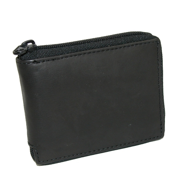 Paul & Taylor Men's Leather Zippered Bifold Wallet - One size