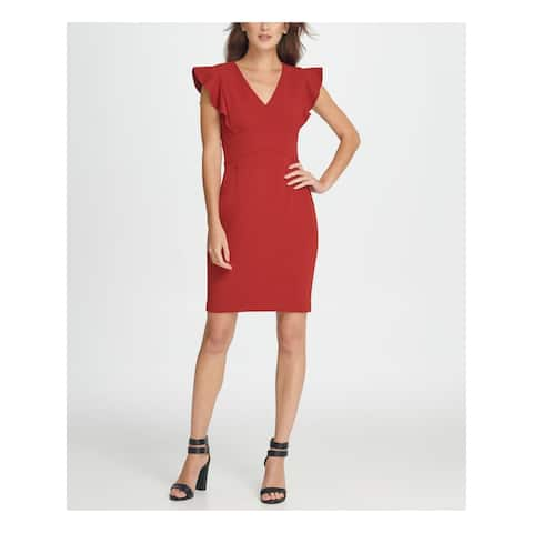 DKNY Maroon Sleeveless Above The Knee Dress 14