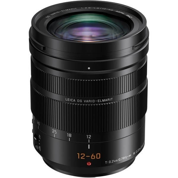 Panasonic Leica DG Vario-Elmarit 12-60mm f/2.8-4 ASPH. POWER O.I.S. Lens International Model - black