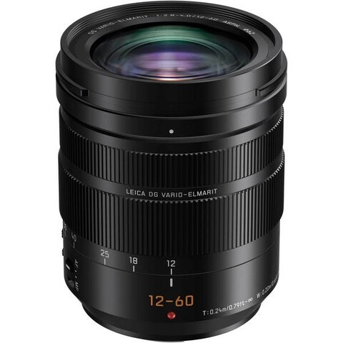Panasonic Leica DG Vario-Elmarit 12-60mm f/2.8-4 ASPH. POWER O.I.S. Lens International Model - black
