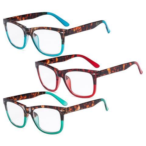 Eyekepper Ladies Reading Glasses - 3 Pack Large Lens Stylish Readers