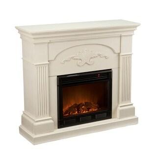 Southern Enterprises FE9275Sicilian Harvest Electric Fireplace - Ivory