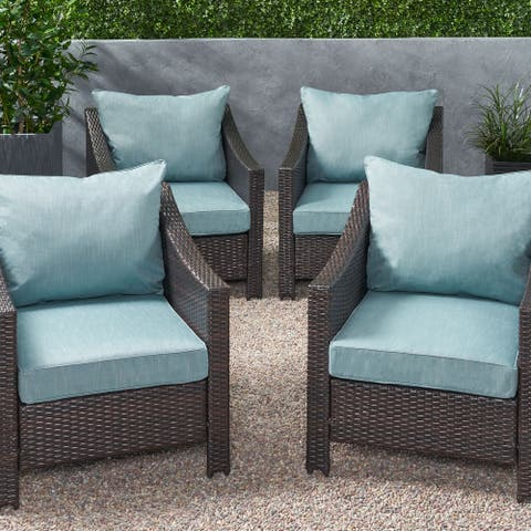 Luvan Club Chair Cushions (Set of 4) by Christopher Knight Home