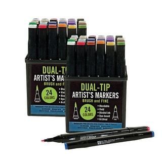 Studio Series Professional Alcohol Dual-Tip Markers Gift - Set Of Two 24 Packs