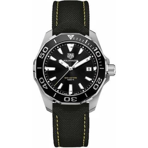 Tag Heuer Men's WAY111A.FC6362 'Aquaracer' Black Fabric Watch