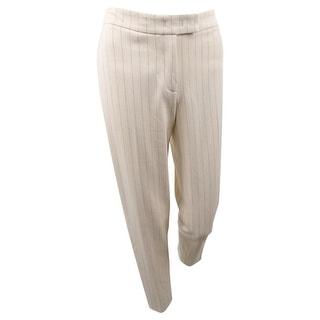 Anne Klein Women's Striped Straight-Leg Pants - Anne White/Anne Black