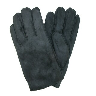 CTM® Men's Faux Suede and Faux Fur Winter Glove