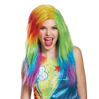 Adult My Little Pony Movie Rainbow Dash Wig - standard - one size