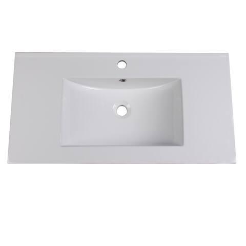 "Fresca Torino 36"" White Integrated Sink / Countertop"