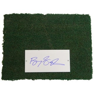 Barry Sanders Detroit Silverdome 12x16 Actual Stadium Used Turf  Autograph Plate