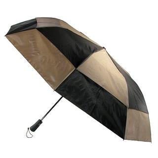 Totes Men's Auto Open Vented Split Panel Canopy Compact Umbrella - One Size