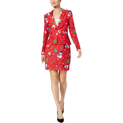 Opposuits Womens Christmiss Skirt Suit Holiday Party