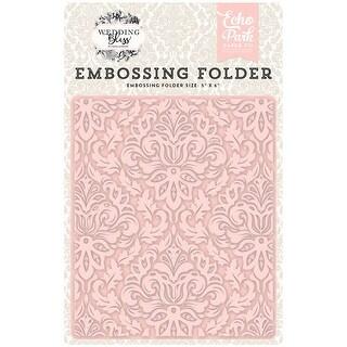 "Echo Park Embossing Folder 5""X5.875""-Wedding Bliss, Dainty Damask"