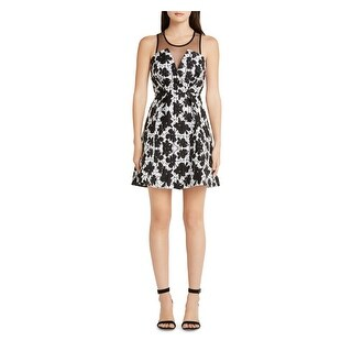 BCBGeneration Womens Cocktail Dress Textured Illusion
