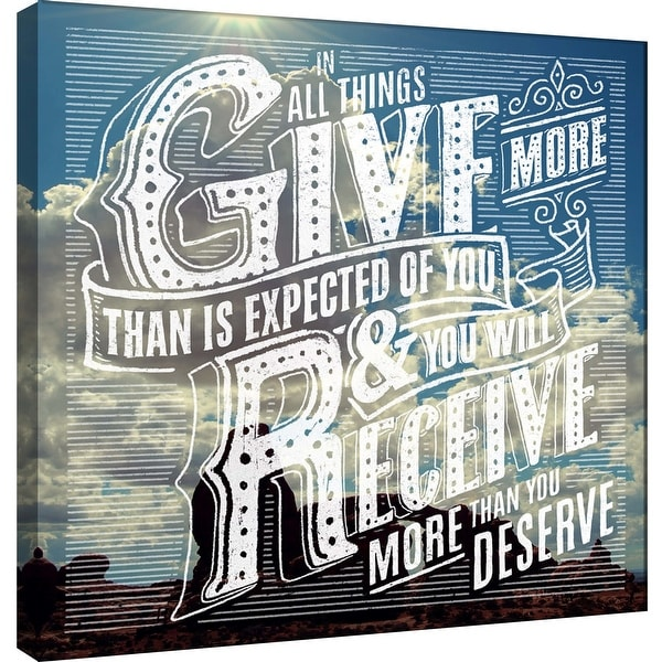 """PTM Images 9-101014 PTM Canvas Collection 12"""" x 12"""" - """"Give"""" Giclee Family Saying Art Print on Canvas"""