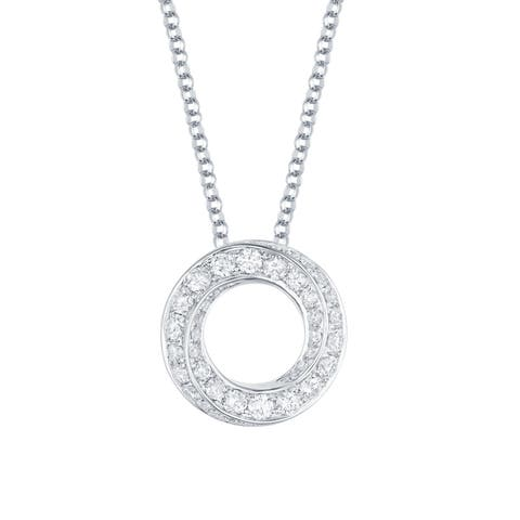 Vedantti 0.73Ct Round G-H/VVS1 Natural Diamond Open-Circel Max Everyday Wear Pendant - White