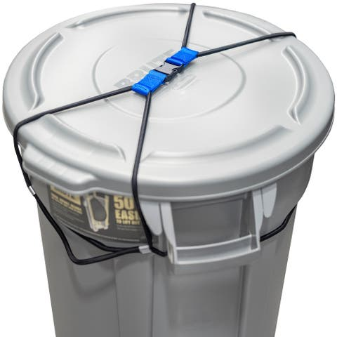 Trash Can Lock for Animals/Raccoons, Bungee Cord Heavy Duty