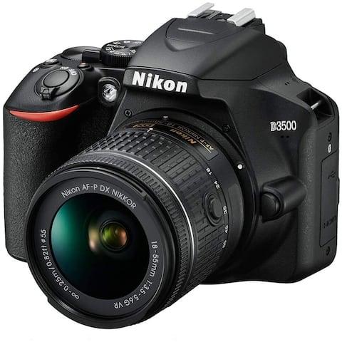 Nikon D3500 24.2MP DX-Format DSLR Digital Camera with 18-55mm Lens -