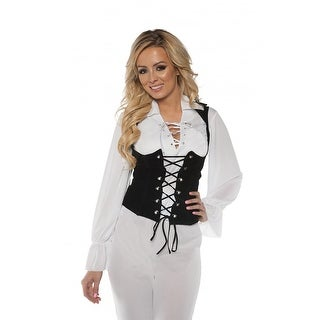 Pirate Shirt Lace Front Adult Costume - White