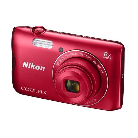 Nikon Coolpix 300 20MP Digital Camera (Red)
