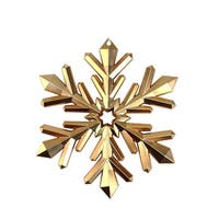 "8.75"" Nature's Luxury Copper Snowflake Commercial Size Christmas Tree Ornament"
