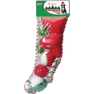 Holiday Dog Toy Stocking 5Pc-Large