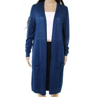 Halogen Blue Women's Size Large L Open-Front Cardigan Sweater