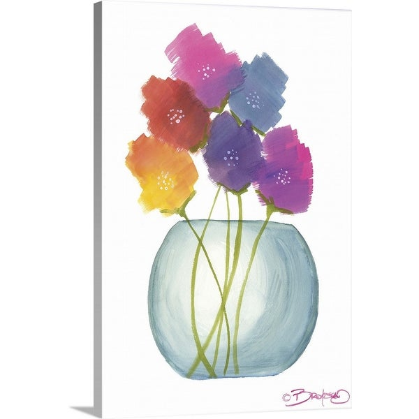 """Flowers in a Jar VIII"" Canvas Wall Art"