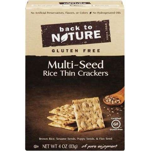 Back To Nature - Multi Seed Gluten Free Crackers ( 12 - 4 OZ)