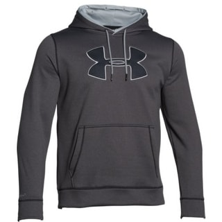 Under Armour Fleece Storm Big Logo Hoody 1259632-090 - Carbon/Grey - XX-Large