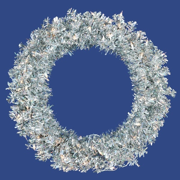 "36"" Silver Wide Cut Wreath 100CL 320T"