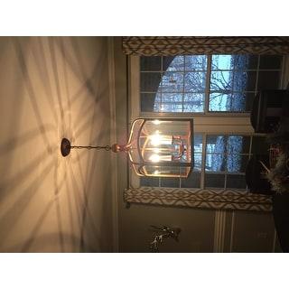 Antiqued Copper 4-light Lantern Chandelier