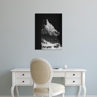 Easy Art Prints Andreas Lie's 'Howling Wolf' Premium Canvas Art