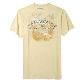 Tasso Elba Margaritaville Graphic Crewneck T-Shirt High Noon Yellow Small