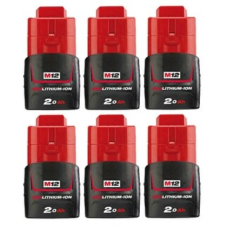 Replacement 1500mAh Battery for Milwaukee 2310-21 / 2450-22 / C12 ID Power Tools (6 Pk)