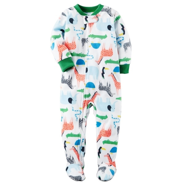 126afc546 Shop Carter s Baby Boys  1-Piece Safari Fleece PJs