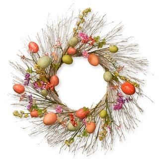 Easter Egg Wreath - 24-Inch, Unlit - N/A