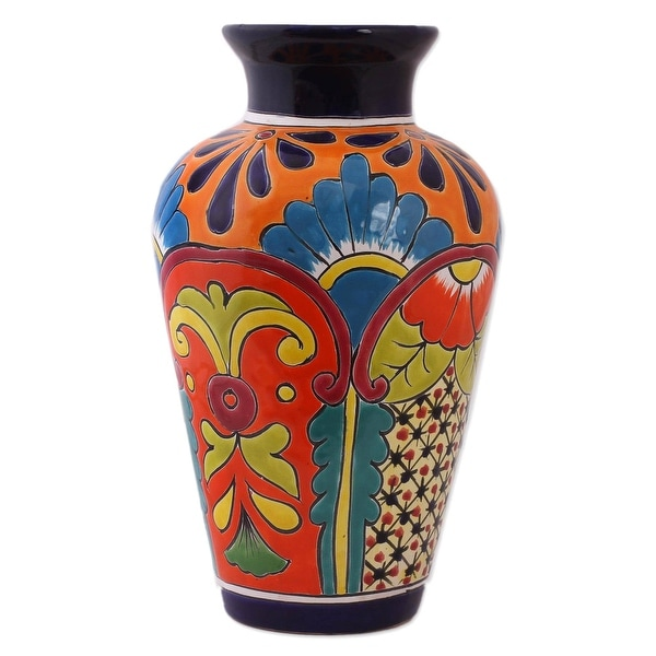 Handmade Floral Display Ceramic Vase (Mexico). Opens flyout.